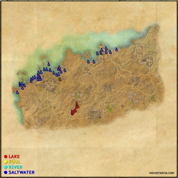 ESO Fishing Map: Alik'r Desert