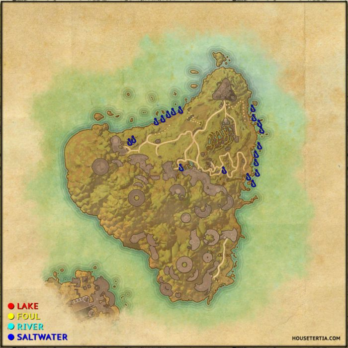 ESO Fishing Map: Artaeum