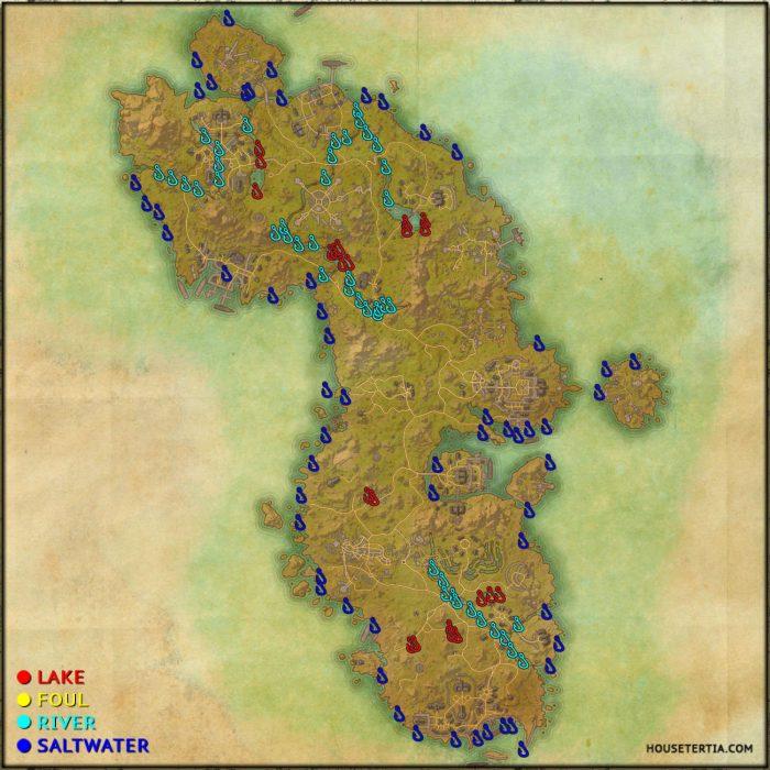 ESO Fishing Map: Auridon