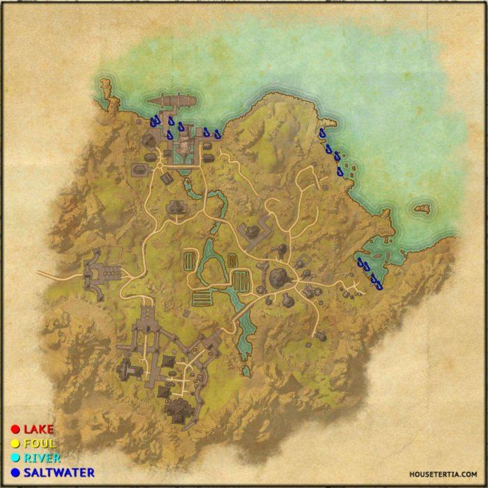 ESO Fishing Map: Bal Foyen