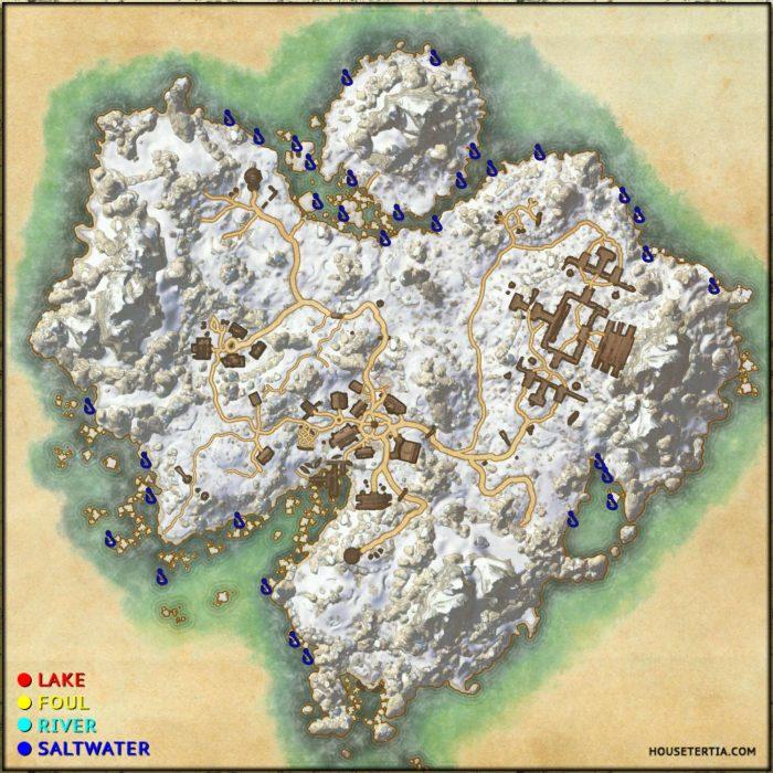 ESO Fishing Map: Bleakrock Isle