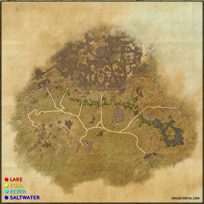 ESO Fishing Map: Clockwork City