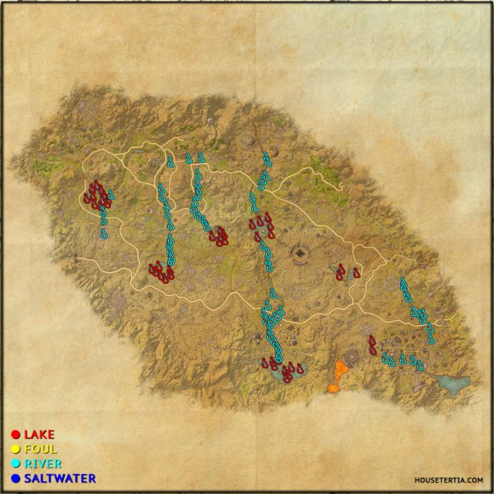 ESO Fishing Map: Craglorn