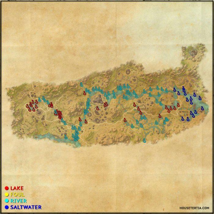 ESO Fishing Map: Deshaan