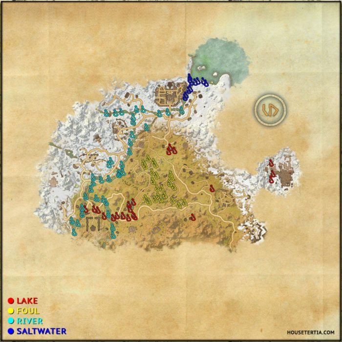 ESO Fishing Map: Eastmarch