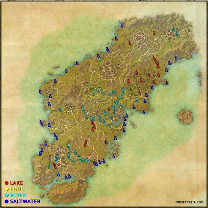 ESO Fishing Map: Glenumbra