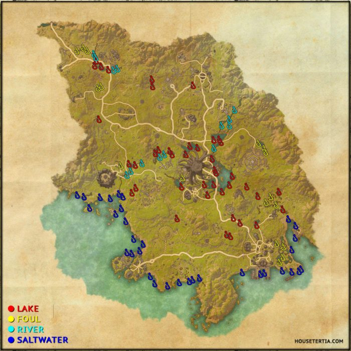 ESO Fishing Map: Grahtwood