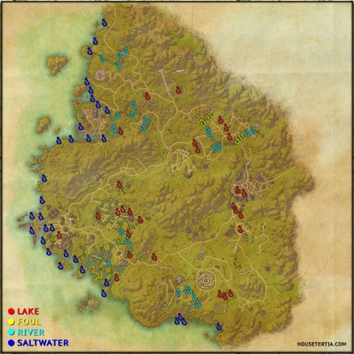 ESO Fishing Map: Greenshade