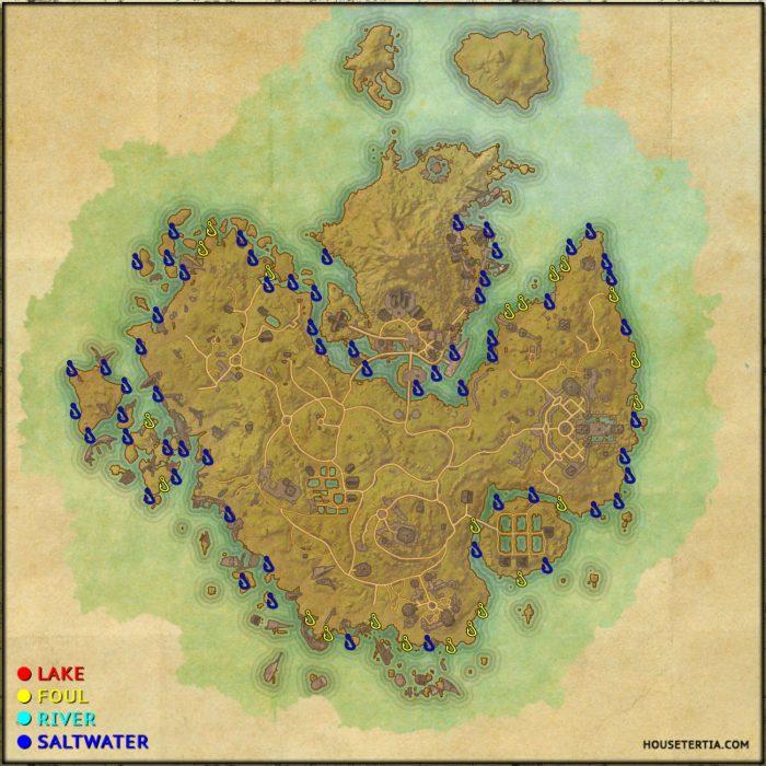 ESO Fishing Map: Khenarthi's Roost