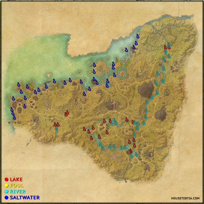 ESO Fishing Map: Malabal Tor