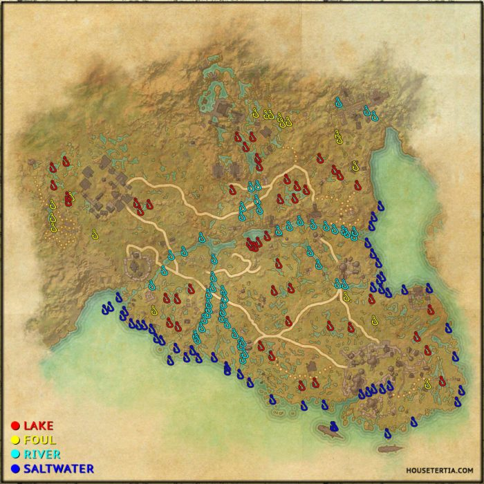 ESO Fishing Map: Murkmire