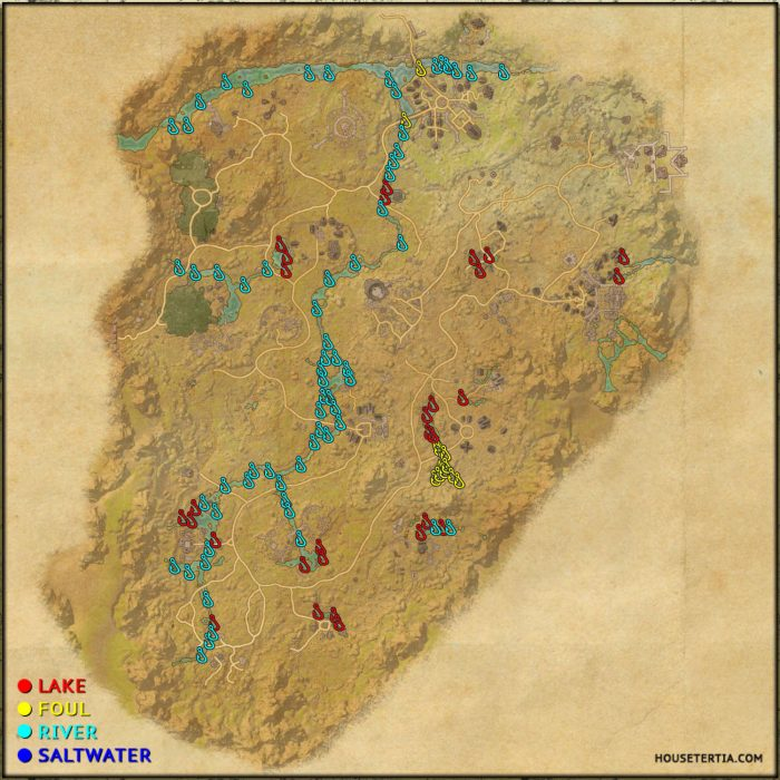 ESO Fishing Map: Reaper's March