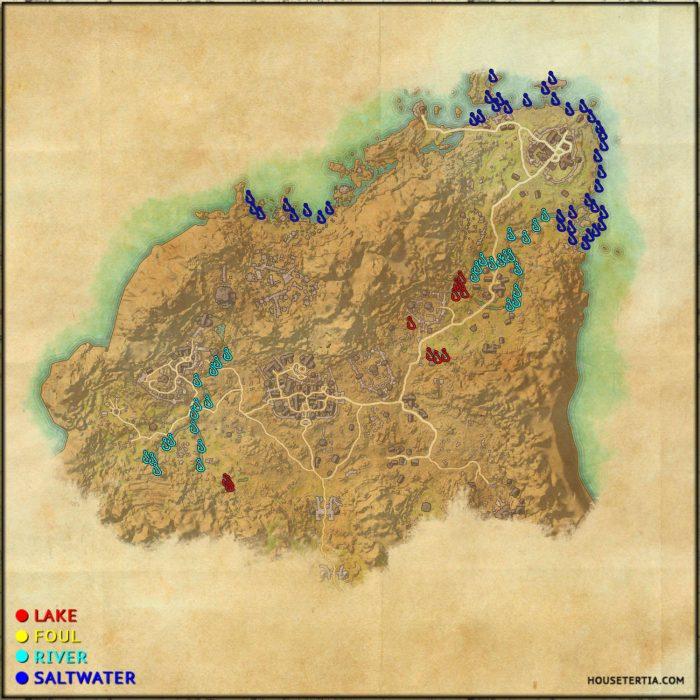 ESO Fishing Map: Rivenspire