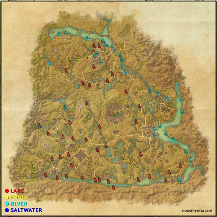 ESO Fishing Map: Shadowfen