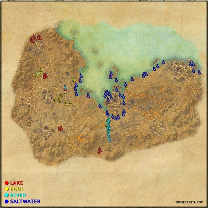 ESO Fishing Map: Stonefalls