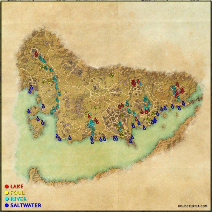 ESO Fishing Map: Stormhaven