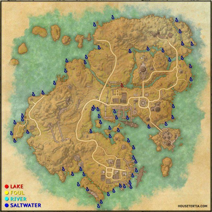 ESO Fishing Map: Stros M'Kai
