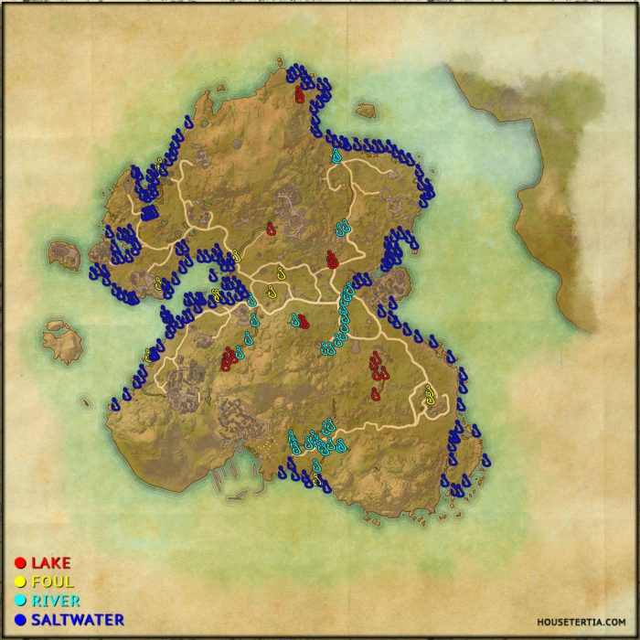 ESO Fishing Map: Summerset