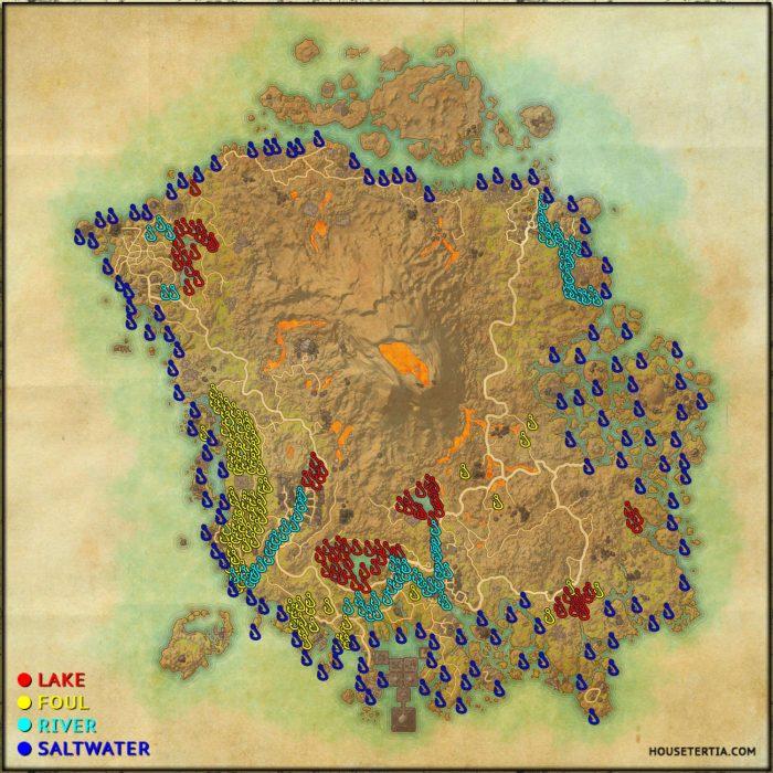 ESO Fishing Map: Vvardenfell