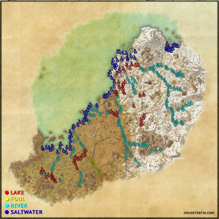 ESO Fishing Map: Wrothgar