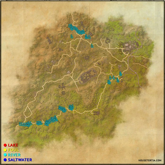 ESO Fishing Map: Northern Elsweyr