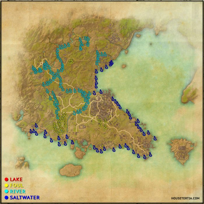 ESO Fishing Map: Southern Elsweyr