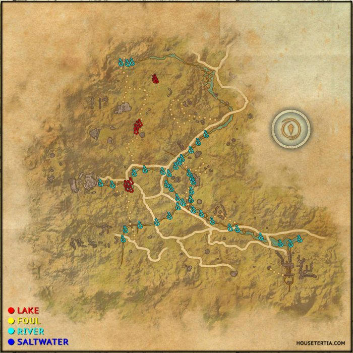 ESO Fishing Map: The Reach