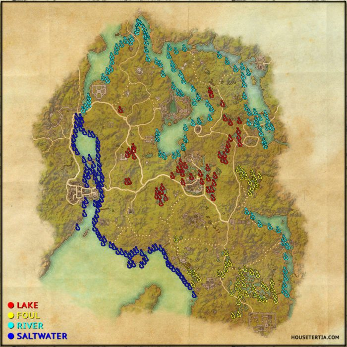 ESO Fishing Map: Blackwood